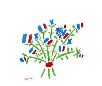 Print in reproduction de  : Small bouquet