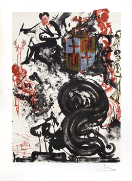 Original signed lithograph de  : Monument to Picasso