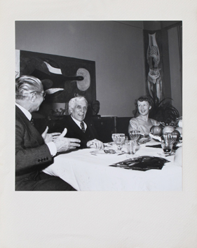 Original photograph de Braque Georges : Dinner with Braque