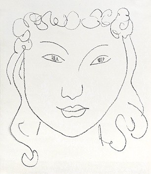 Lithographie d'interprétation de Matisse Henri : Portrait