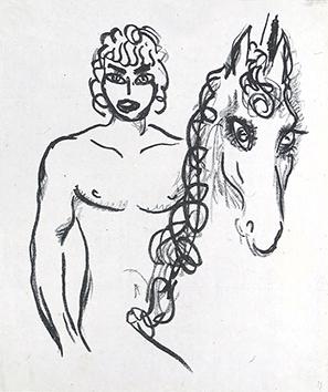 Lithographie originale de  : La princesse de Babylone, planche 3