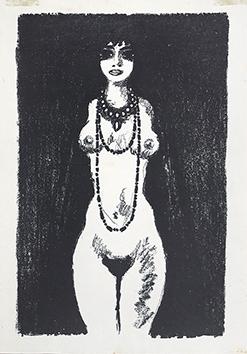 Lithographie originale de  : La princesse de Babylone, planche 1