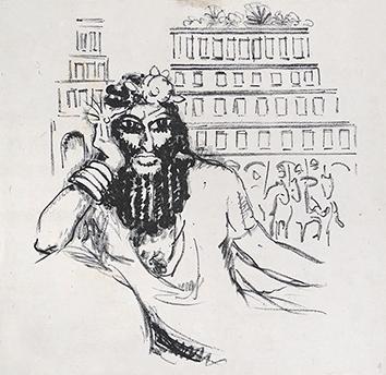 Lithographie originale de  : La princesse de Babylone, planche 2