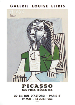 Original lithograph poster de  : Picasso, recent works