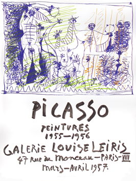 Original poster de Picasso Pablo : Paintings 1955-1956