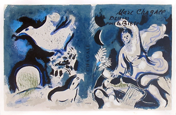 Original lithograph de Chagall Marc : Cover for Verve, Vol. X, n°37 and 38