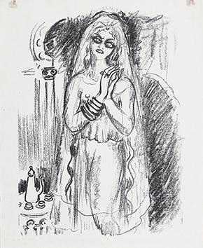 Lithographie originale de  : La princesse de Babylone, planche 21
