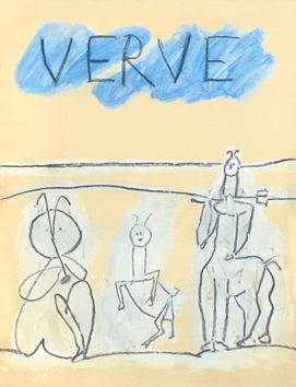 Illustrated art issue de Picasso Pablo : Verve Vol. V n°19 and 20