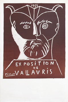 Original linocut de  : Exhibition Vallauris 55 II