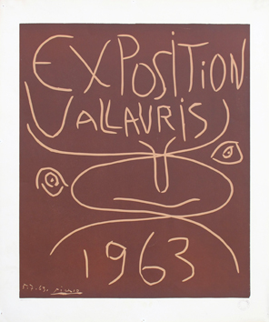 Original linocut de  : Exhibition Vallauris 63