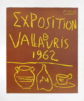 Original linocut de  : Exhibition Vallauris 62