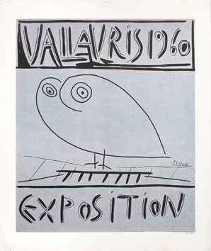 Original linocut de  : Exhibition Vallauris 60