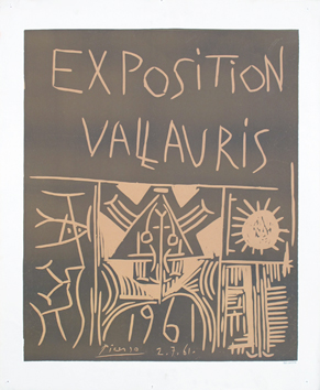 Original linocut de  : Vallauris 61 Exhibition