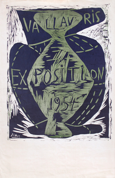 Original linocut de  : Vallauris exhibition 54