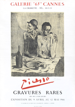 Signed poster de Picasso Pablo : Galerie 65