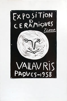 Original linocut de  : Exhibition Ceramics