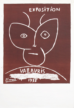 Original linocut de  : Exhibition Vallauris 55 I