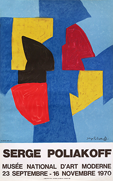 Mourlot exhibition poster de Poliakoff Serge : National Museum of Modern Art