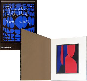 Book with lithographs de Vasarely Victor : Octal