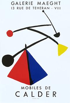 Affiche d'exposition de  : Mobiles de Calder
