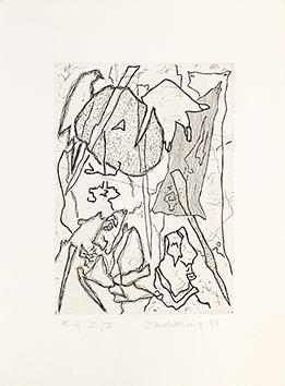 Gravure originale signée de  : Le deuxième exercice