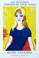 Lithographieplakat de  : Musée Galliera, Brigitte Bardot