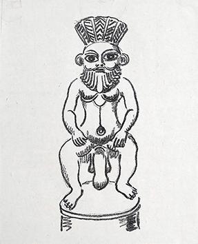 Litografia originale de  : La princesse de Babylone, tavola 16