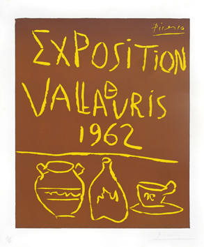 Original signed linocut de  : Exhibition Vallauris 62 (II)