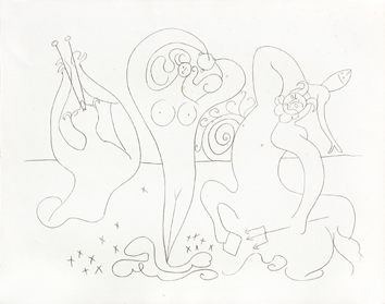 Jacomet process print de Picasso Pablo : My drawings of Antibes X