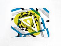 Lithographie originale signée de  : Triangle