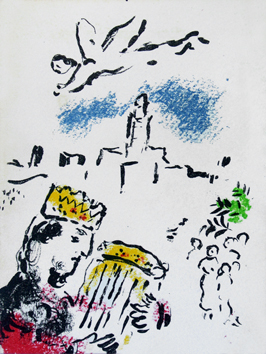 Chagall Marc : Lithographie originale : David