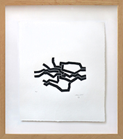 Original signed woodcut de Chillida Eduardo : Mas Allá (Further on), Plate VIII
