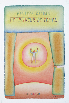 Original signed watercolour de  : Le buveur de temps