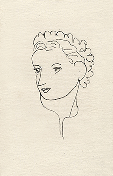Original lithograph de  : Woman portrait VIII - Repli