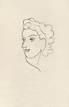Original lithograph de Matisse Henri : Woman portrait IX - Repli