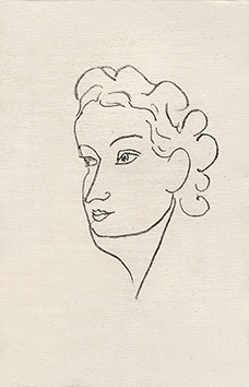 Original lithograph de Matisse Henri : Woman portrait X - Repli