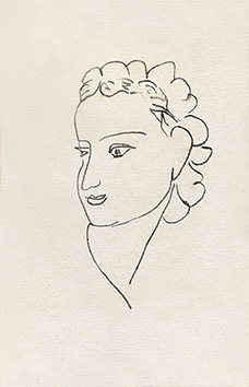 Original lithograph de Matisse Henri : Woman portrait XI - Repli