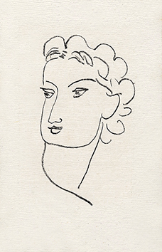 Original lithograph de Matisse Henri : Woman portrait XII - Repli