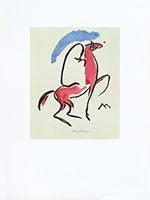 Original lithograph de  : The arabian horseman