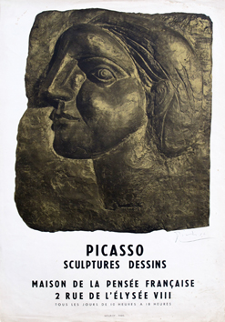Signed poster de Picasso Pablo : Sculptures, drawings