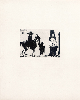 Original aquatint de  : Maja and rider