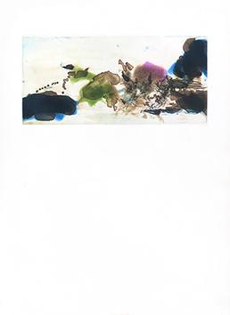 Gravure originale de  : L'étang, planche I