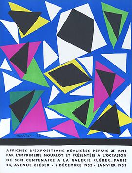 Affiche originale Mourlot de  : Exposition d'affiches