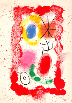 Original signed lithograph de  : Miro