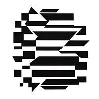 Signierte Originalserigraphie de  : Kinetisches Album schwarz und weiß I