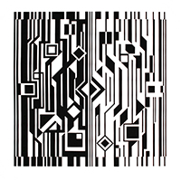 Original signed screenprint de Vasarely Victor : Kinetic album black and white IV