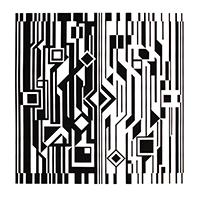 Original signed screenprint de  : Kinetic album black and white IV