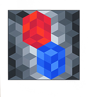 Signierte Serigraphie de  : Hexagone
