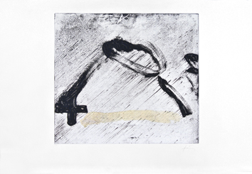 Signed etching carborundum de  : Glissement