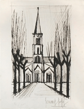 Original signed etching de  : Church